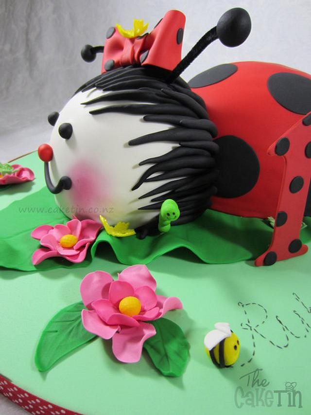 Cool Ladybug First Birthday Cake Cake By The Cake Tin Cakesdecor Personalised Birthday Cards Sponlily Jamesorg