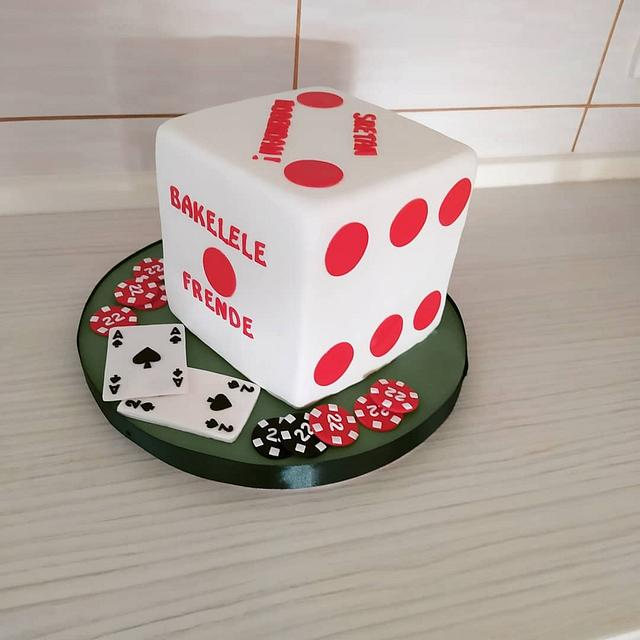 Poker cube cake