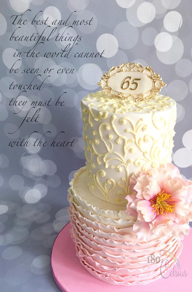 Outstanding 65Th Birthday Cake By Joonie Tan Cakesdecor Personalised Birthday Cards Veneteletsinfo