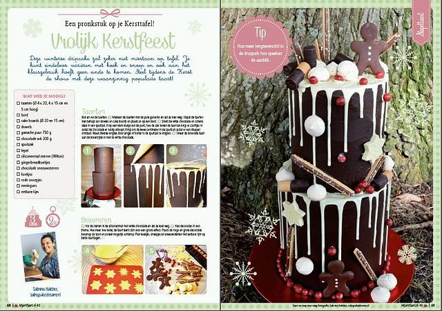 winter drip cake
