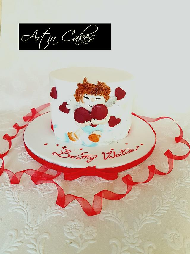 Cute Cupid Valentines Cake.