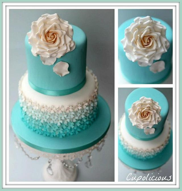 Remarkable Tiffany Birthday Cake Cake By Kriti Walia Cakesdecor Funny Birthday Cards Online Overcheapnameinfo