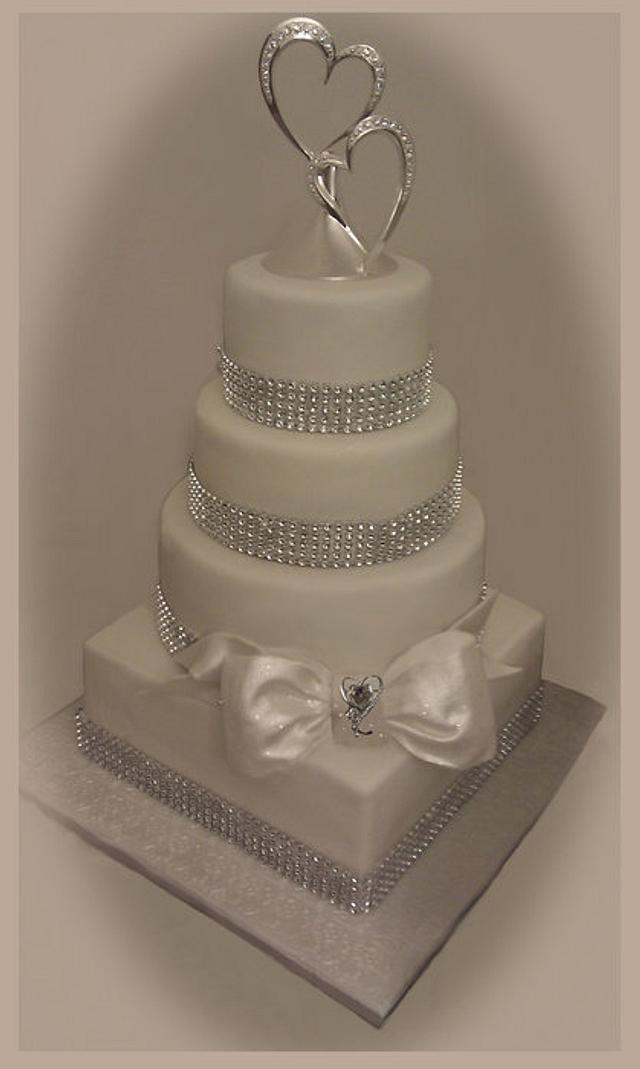 My first wedding cake for my daughter & her new husband.