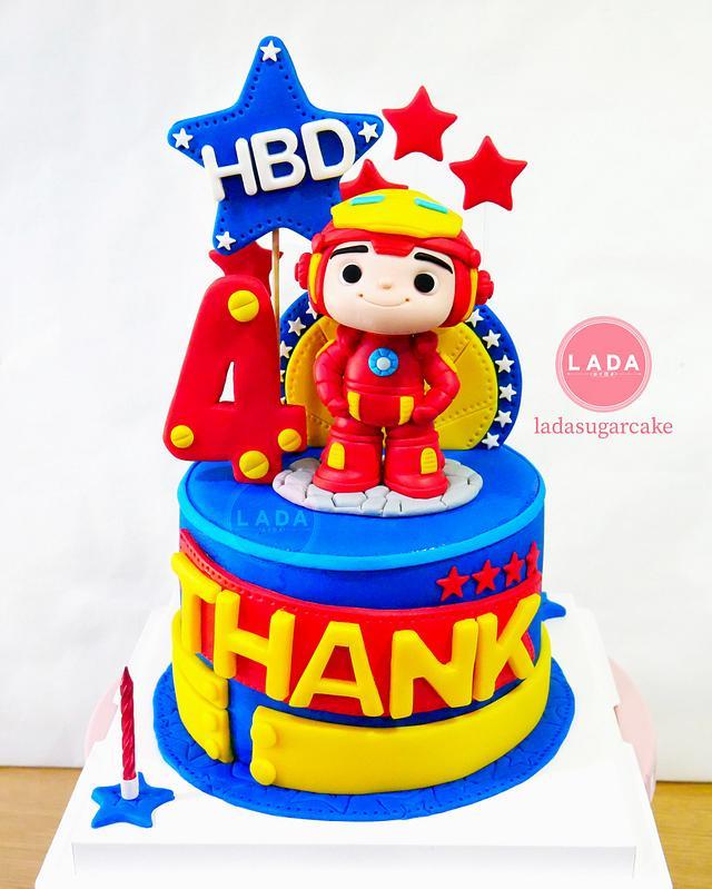 Super Baby Iron Man Birthday Cake Cake By Ladadesigns Cakesdecor Personalised Birthday Cards Paralily Jamesorg