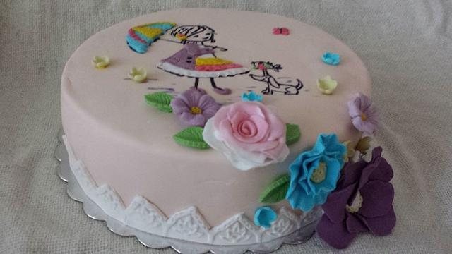 cocoa and mascarpone cake