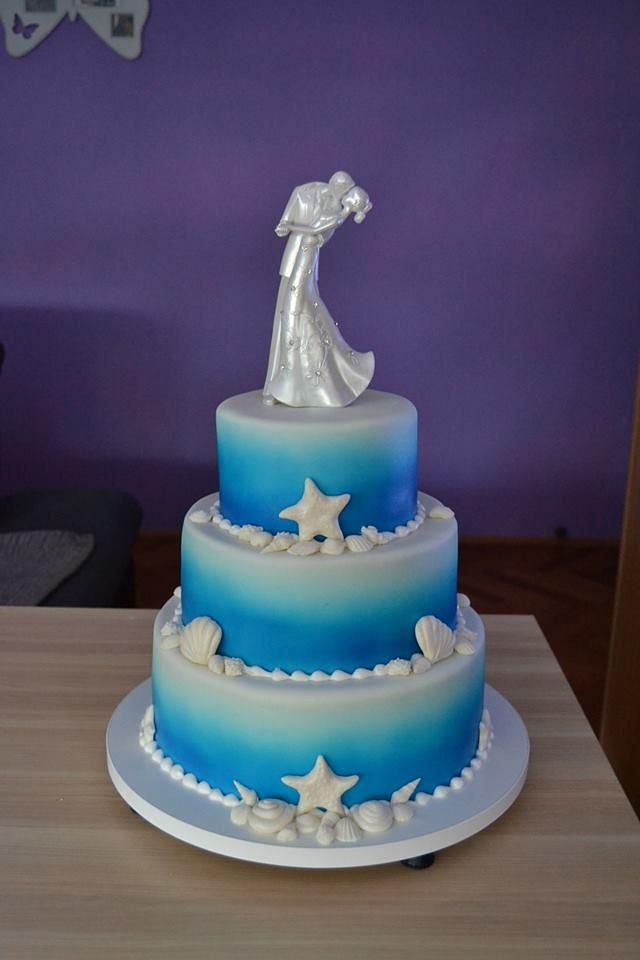 Wedding Sea cake