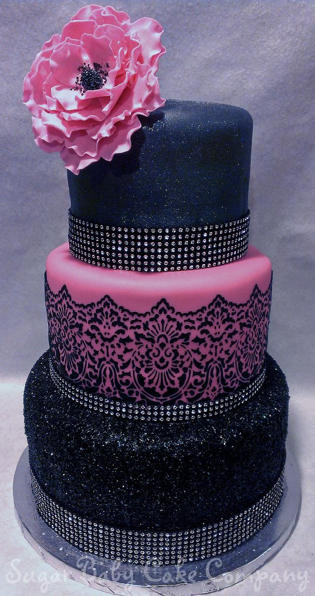 Fabulous Sexy Bling 40Th Birthday Cake Cake By Kristi Cakesdecor Personalised Birthday Cards Bromeletsinfo
