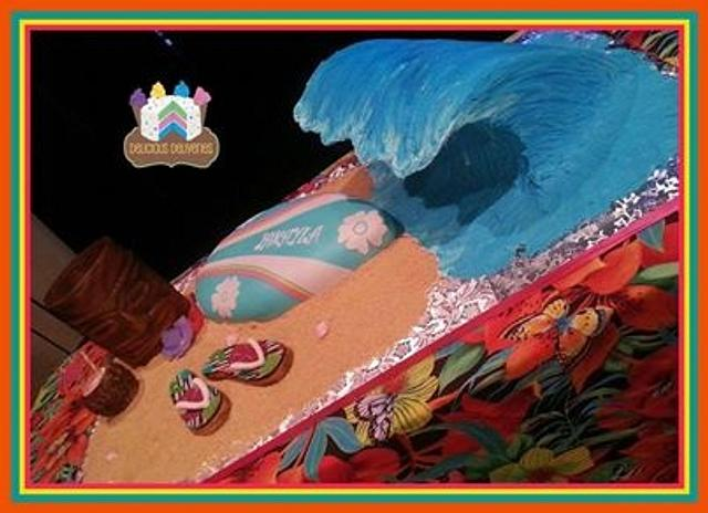 Luau wave cake
