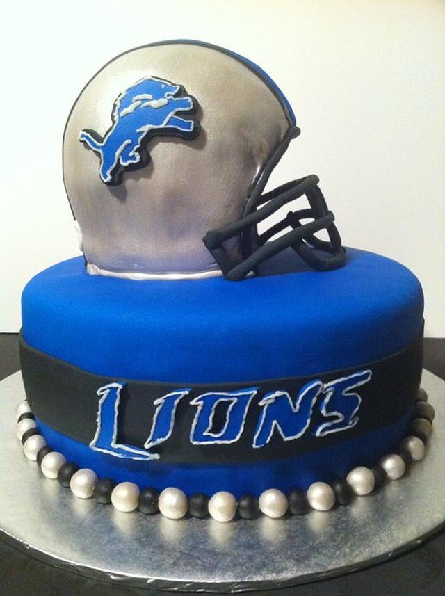 Lions Football Cake