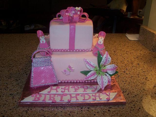 Admirable Girly Girl Birthday Cake Cake By Margaret Cakesdecor Personalised Birthday Cards Xaembasilily Jamesorg