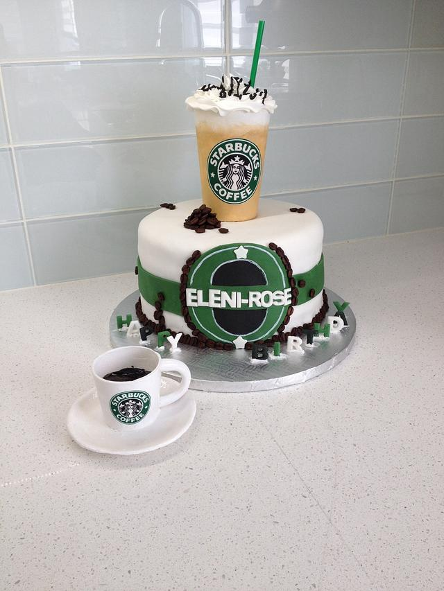 Wondrous Starbucks Lover Birthday Cake Cake By Sweet Cakes By Cakesdecor Funny Birthday Cards Online Fluifree Goldxyz