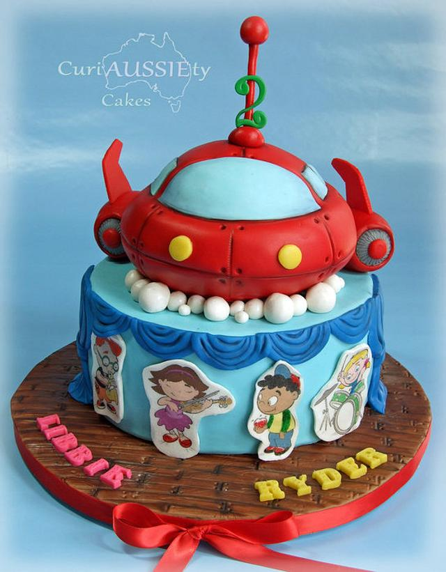 Astounding Little Einstein Birthday Cake Cake By Curiaussiety Cakesdecor Funny Birthday Cards Online Inifofree Goldxyz
