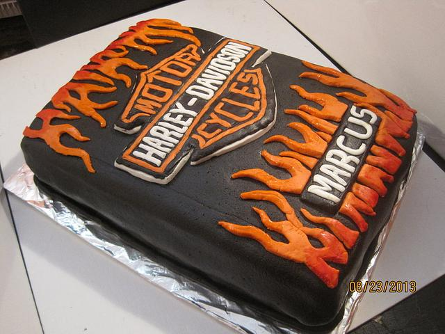 Admirable Harley Davidson Birthday Cake Cake By Valerie Mercer Cakesdecor Funny Birthday Cards Online Elaedamsfinfo