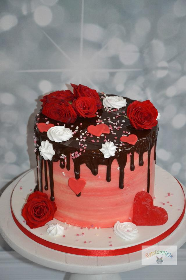 drip cake valentine