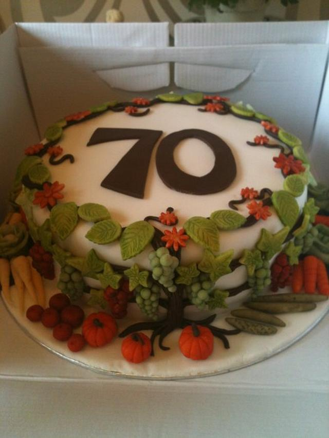 Tremendous My Dads 70Th Birthday Cake Cake By Kerry Rowe Cakesdecor Funny Birthday Cards Online Fluifree Goldxyz