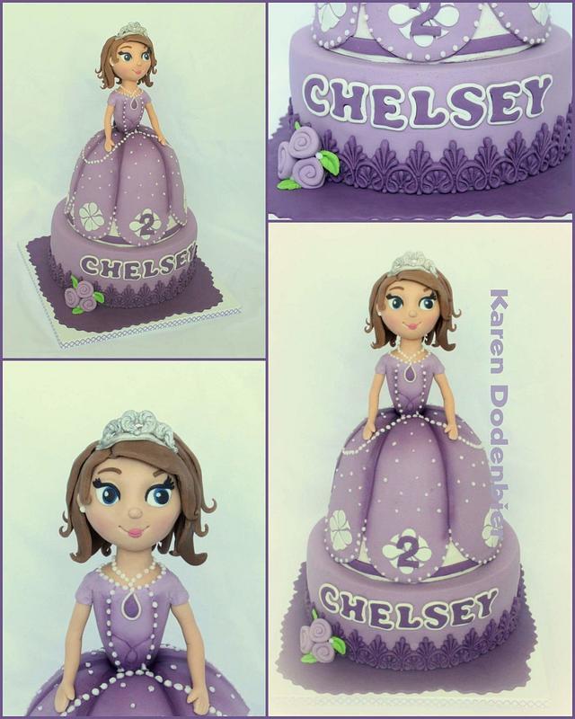 3D Princess Sofia cake