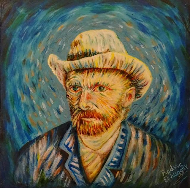 Hand painted vincent cake