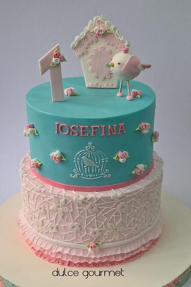 Incredible Shabby Chic Birthday Cake Cake By Silvia Caballero Cakesdecor Personalised Birthday Cards Vishlily Jamesorg