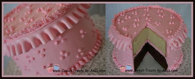 Swiss Meringue Buttercream cake