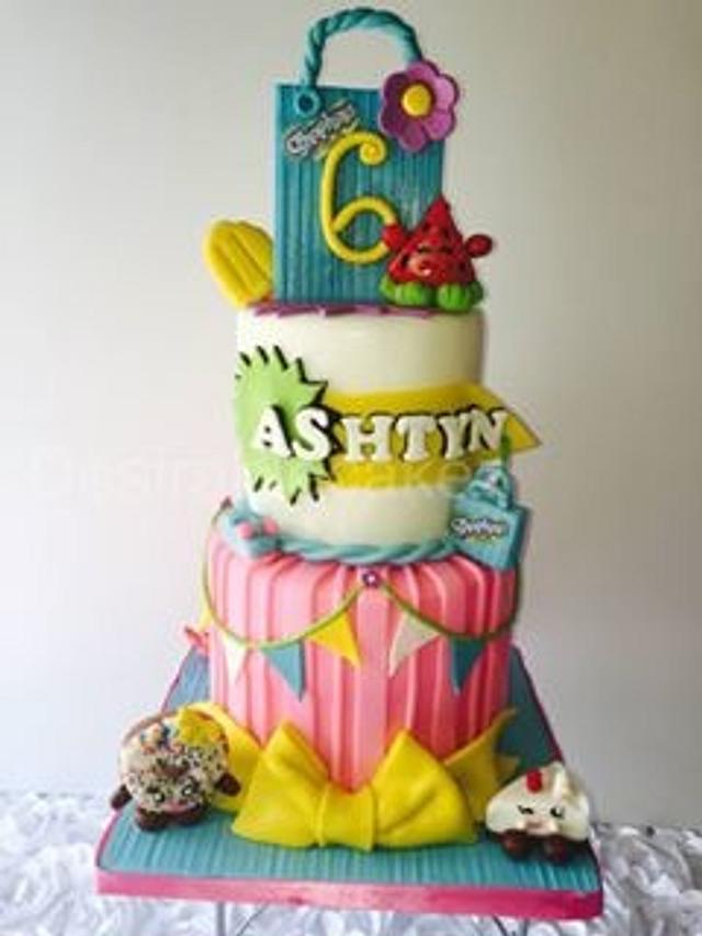 Shopkins Inspired Cake.
