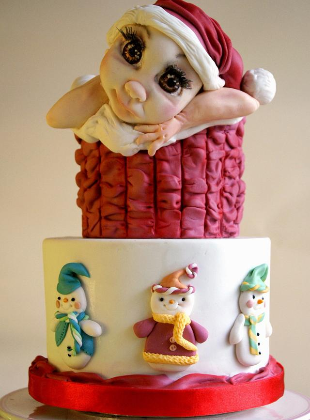 Cake in the christmas holiday spirit
