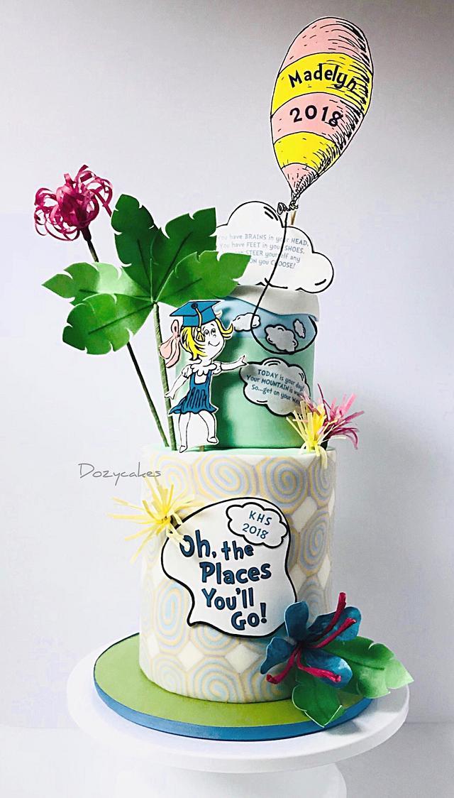 Dr. Seuss Graduation Cake