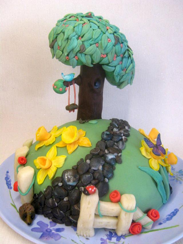 'Blossom Tree with Swing' Cake
