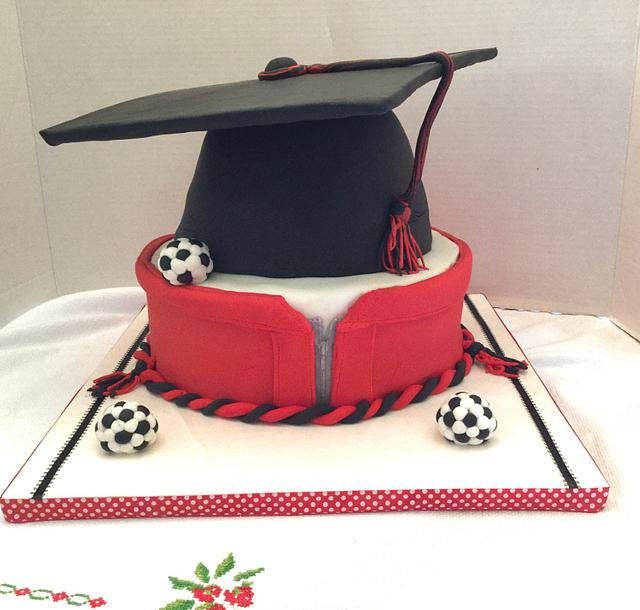 Graduation cake for a soccer player