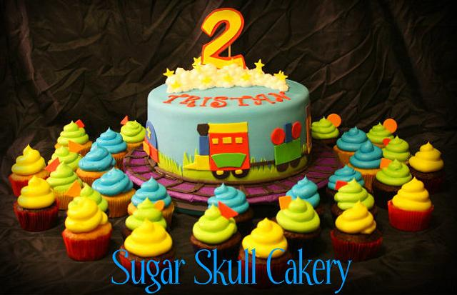 Train Themed Cake