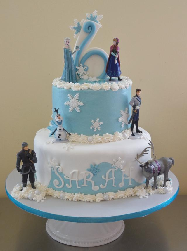 Peachy Frozen Themed Birthday Cake Cake By Daniellessweetside Cakesdecor Personalised Birthday Cards Rectzonderlifede