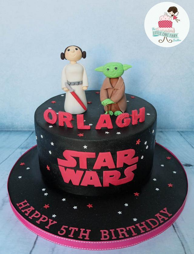 Pink Star Wars/Leia and Yoda