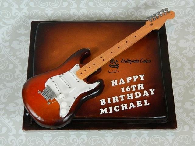 Guitar cake