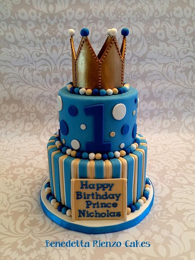 Fabulous Little Prince 1St Birthday Cake By Benni Rienzo Radic Cakesdecor Funny Birthday Cards Online Inifofree Goldxyz