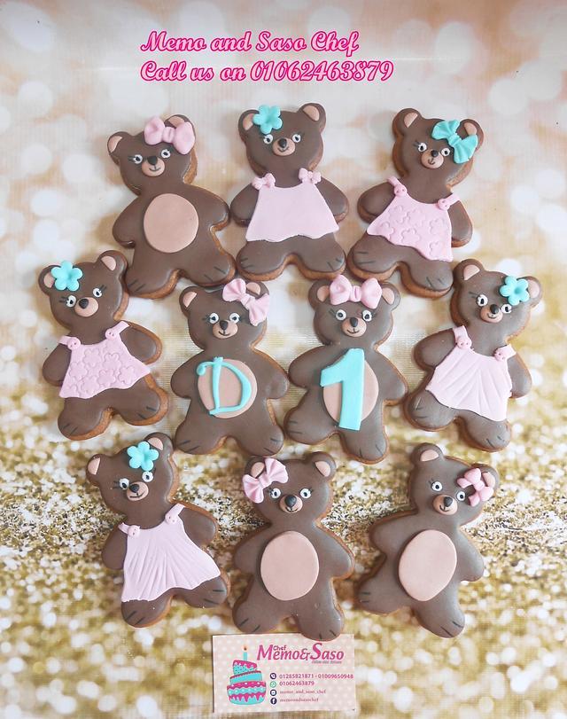Teddy bear cookies🐻