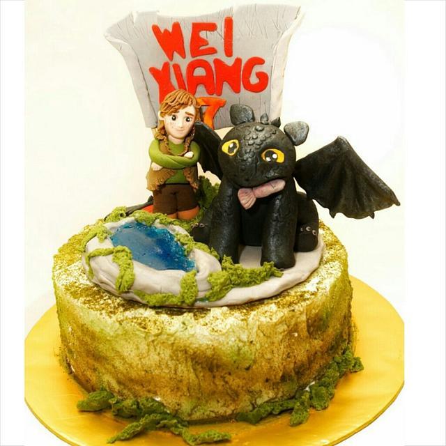 How to Train Your Dragon Theme Cake