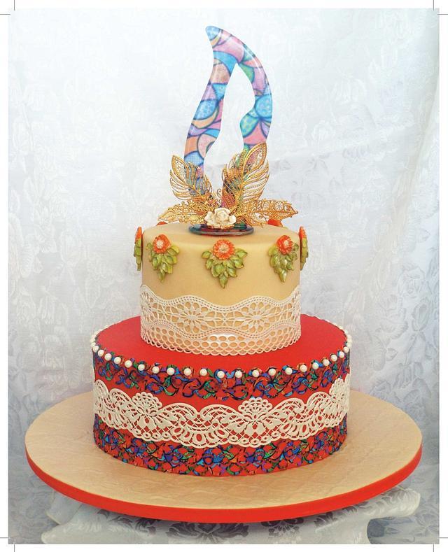 Autumn fall cake
