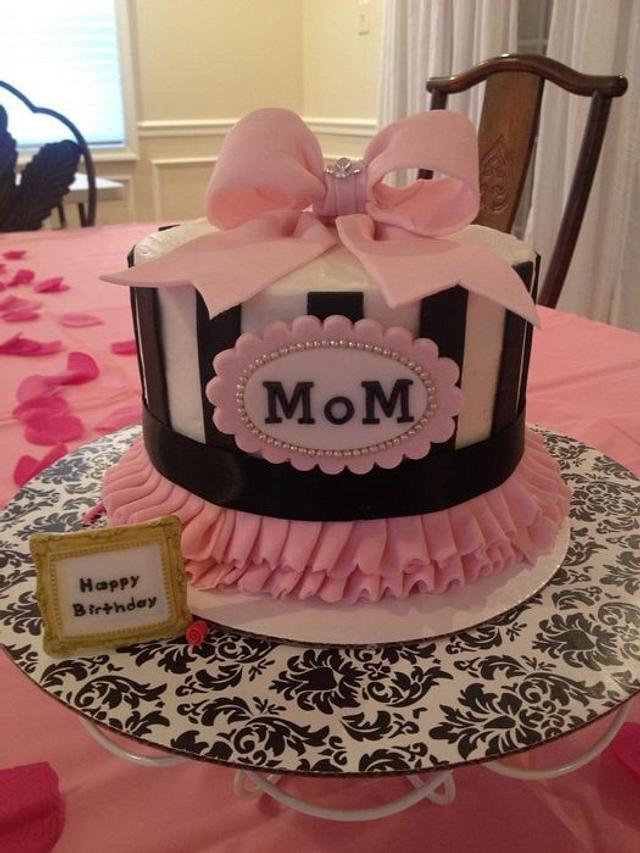 Surprising Moms Birthday Cake Cake By Deliciouscreations Cakesdecor Birthday Cards Printable Inklcafe Filternl
