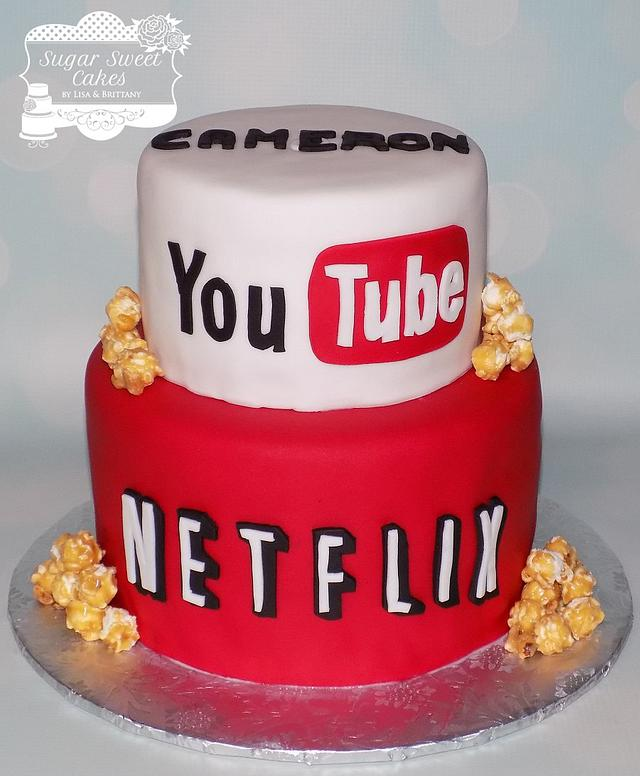 Wondrous Youtube Netflix Cake By Sugar Sweet Cakes Cakesdecor Personalised Birthday Cards Paralily Jamesorg