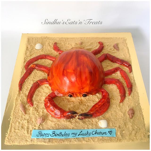 crab theme cake