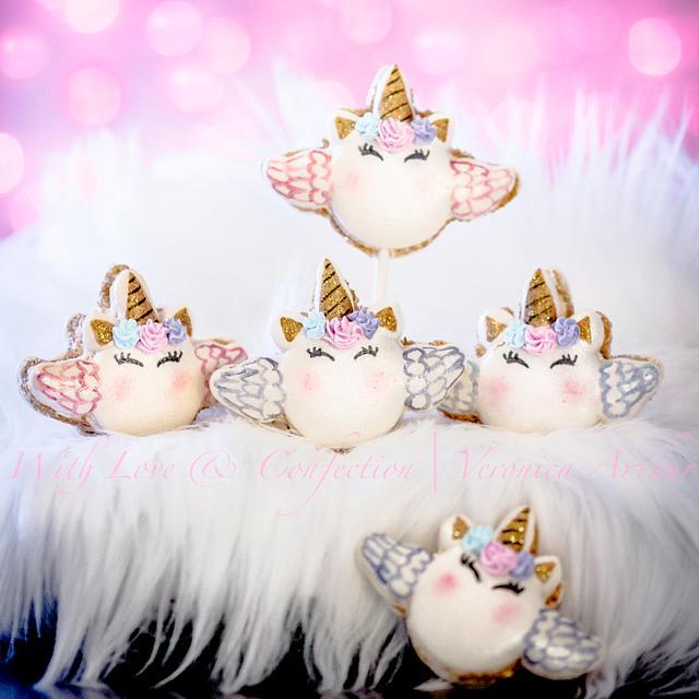 Unicorn Macarons with WINGS