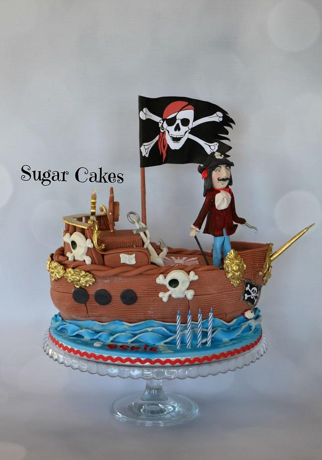 Enjoyable Pirate Cake Captain Hook Cake By Sugar Cakes Cakesdecor Personalised Birthday Cards Arneslily Jamesorg