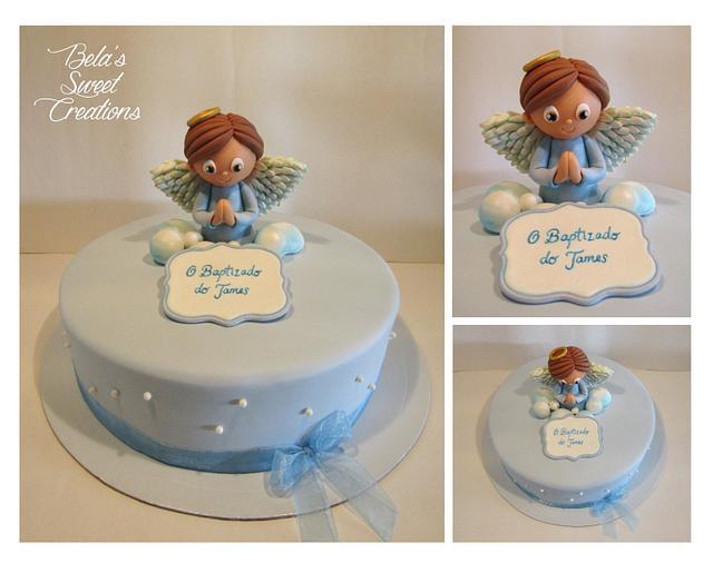 Cousin's Angel Baptism Cake