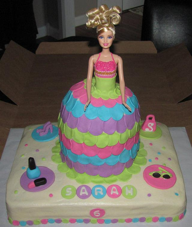 Sensational Barbie Birthday Cake Cake By Jaybugs Sweet Shop Cakesdecor Funny Birthday Cards Online Alyptdamsfinfo