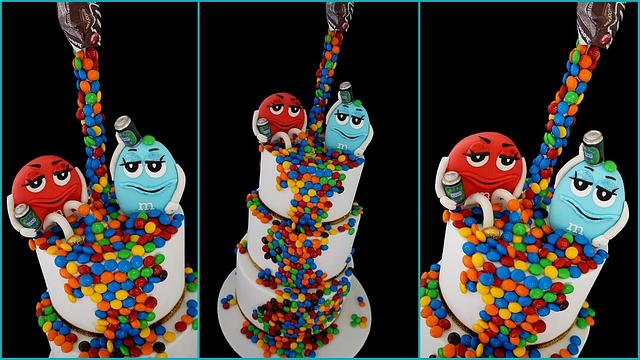 M&M 21st Birthday cake