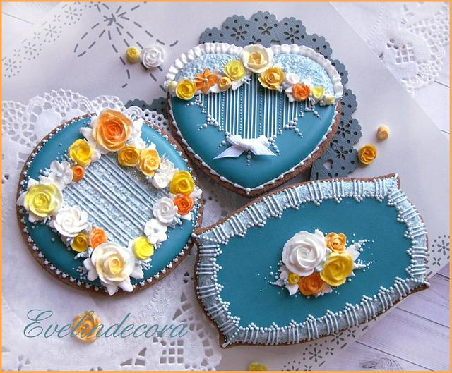 Blue chic cookies