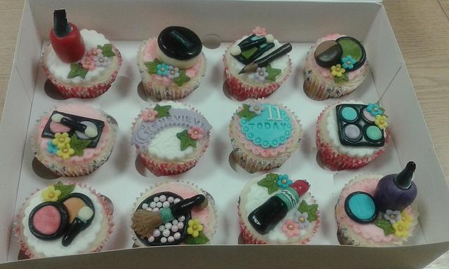 Mac makeup cupcakes