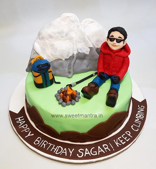 Fine Trekking Theme Customized Fondant Birthday Cake Cake By Cakesdecor Funny Birthday Cards Online Alyptdamsfinfo