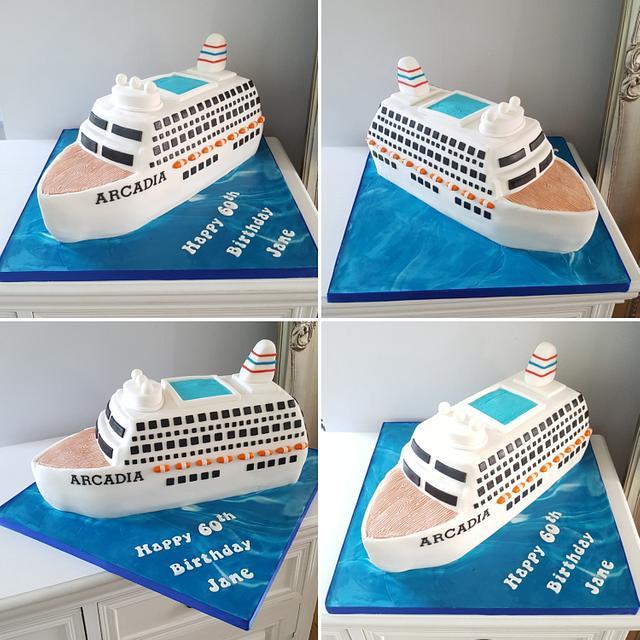 Terrific Cruise Ship Birthday Cake Cake By Klis Cakery Cakesdecor Funny Birthday Cards Online Inifofree Goldxyz