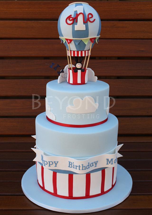 Fine Hot Air Balloon 1St Birthday Cake Cake By Cakesdecor Funny Birthday Cards Online Necthendildamsfinfo