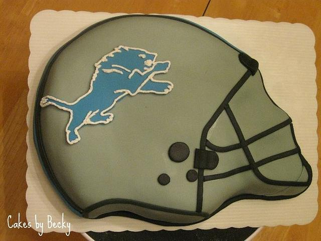 Detroit Lions Grooms Cake